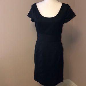 EUC H&M Black w. White pinstripes Dress (8)